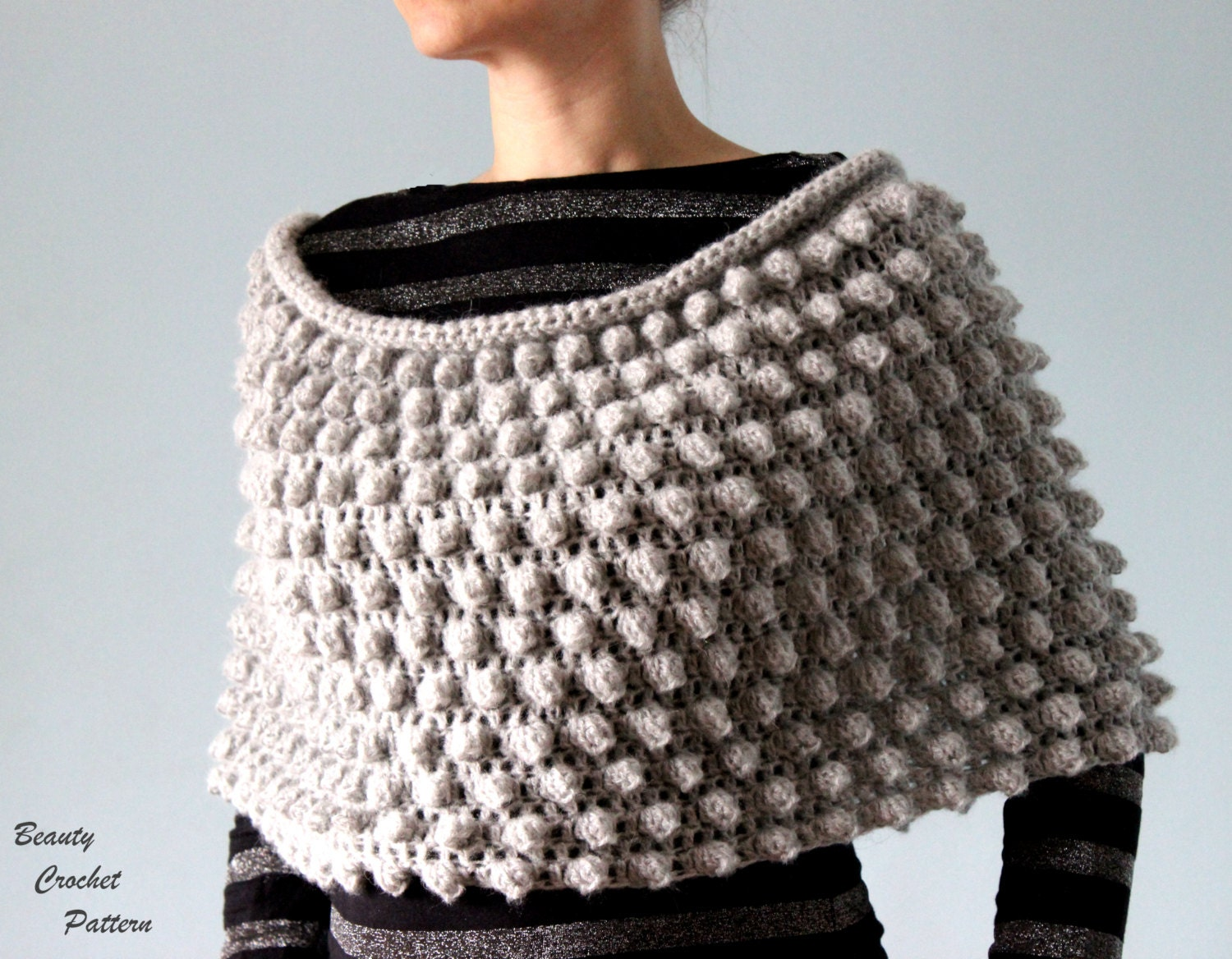 Free Patterns Crochet Cape : Crochet Poncho Pattern Womens Crochet Poncho Pattern