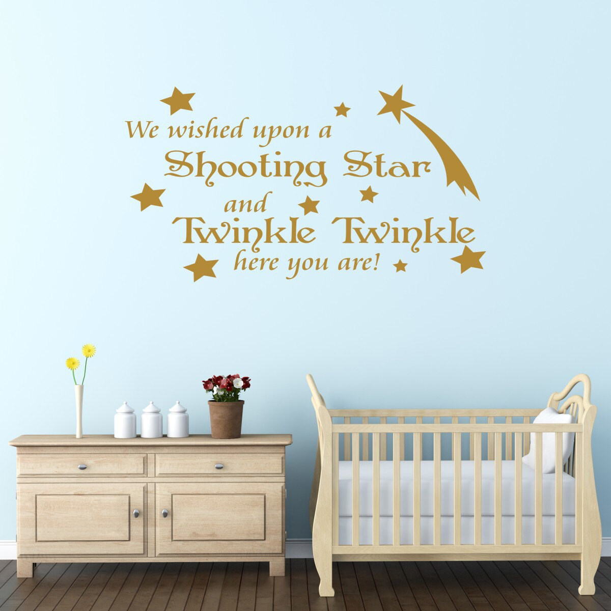 we wished upon a shooting nursery wall sticker quote