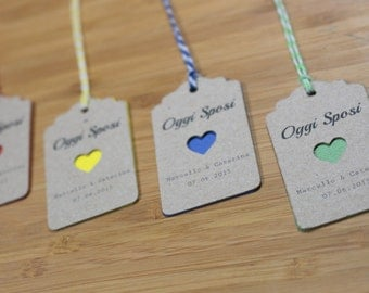 "10 tags in kraft paper ""ColorHeart"""