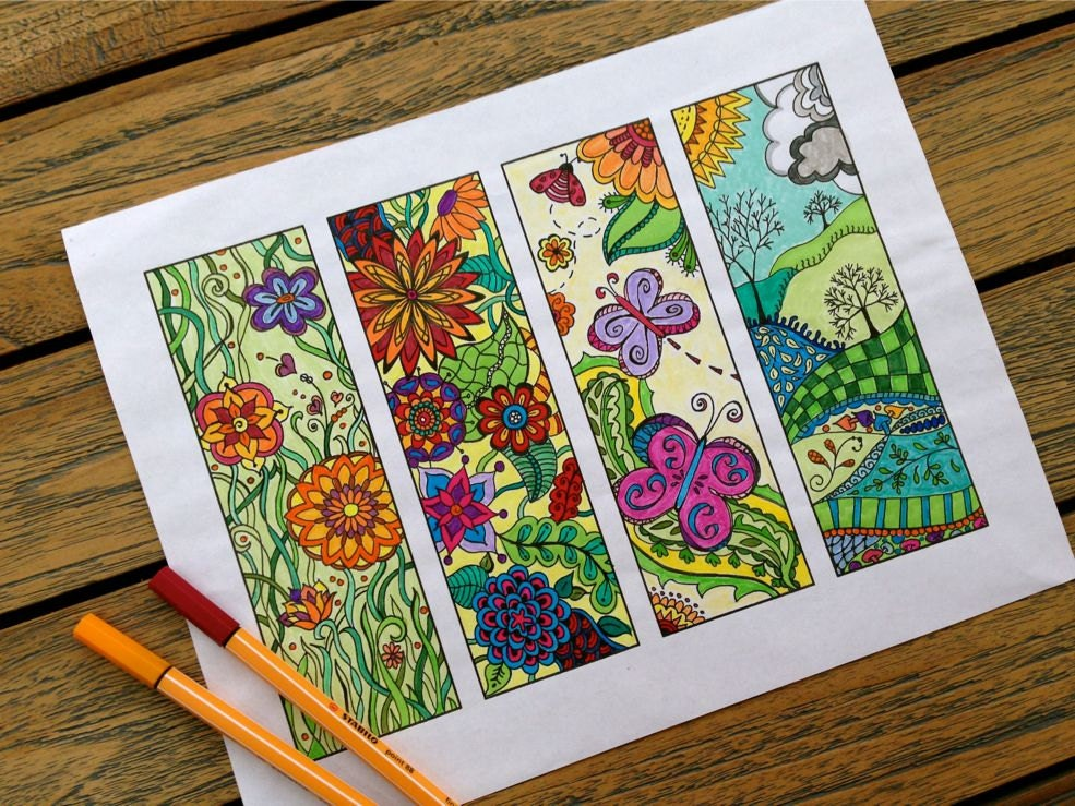 Bookmarks To Print And Color Zentangle Bookmark Coloring
