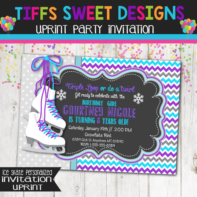Ice Skate Invitations - Best Printable Invitation Design Ideas by ...