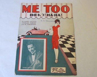 Art Deco Decor Vintage Sheet Music