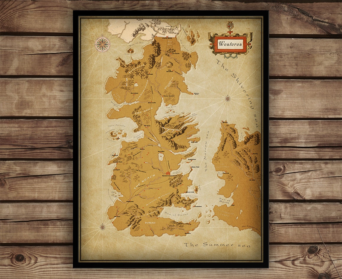 game of thrones map poster - photo #23