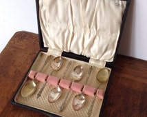 Vintage Apostle Silver Plated Teaspoons In Display Box