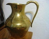 Vintage Solid Brass Water  Pitcher Made in India