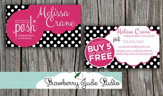 Items similar to Perfectly Posh business card, DIY Printable or ...