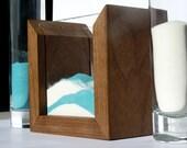 "Unity Sand Ceremony Wedding Kit - Modern Rustic 5 x 5"" Hardwood Frame"