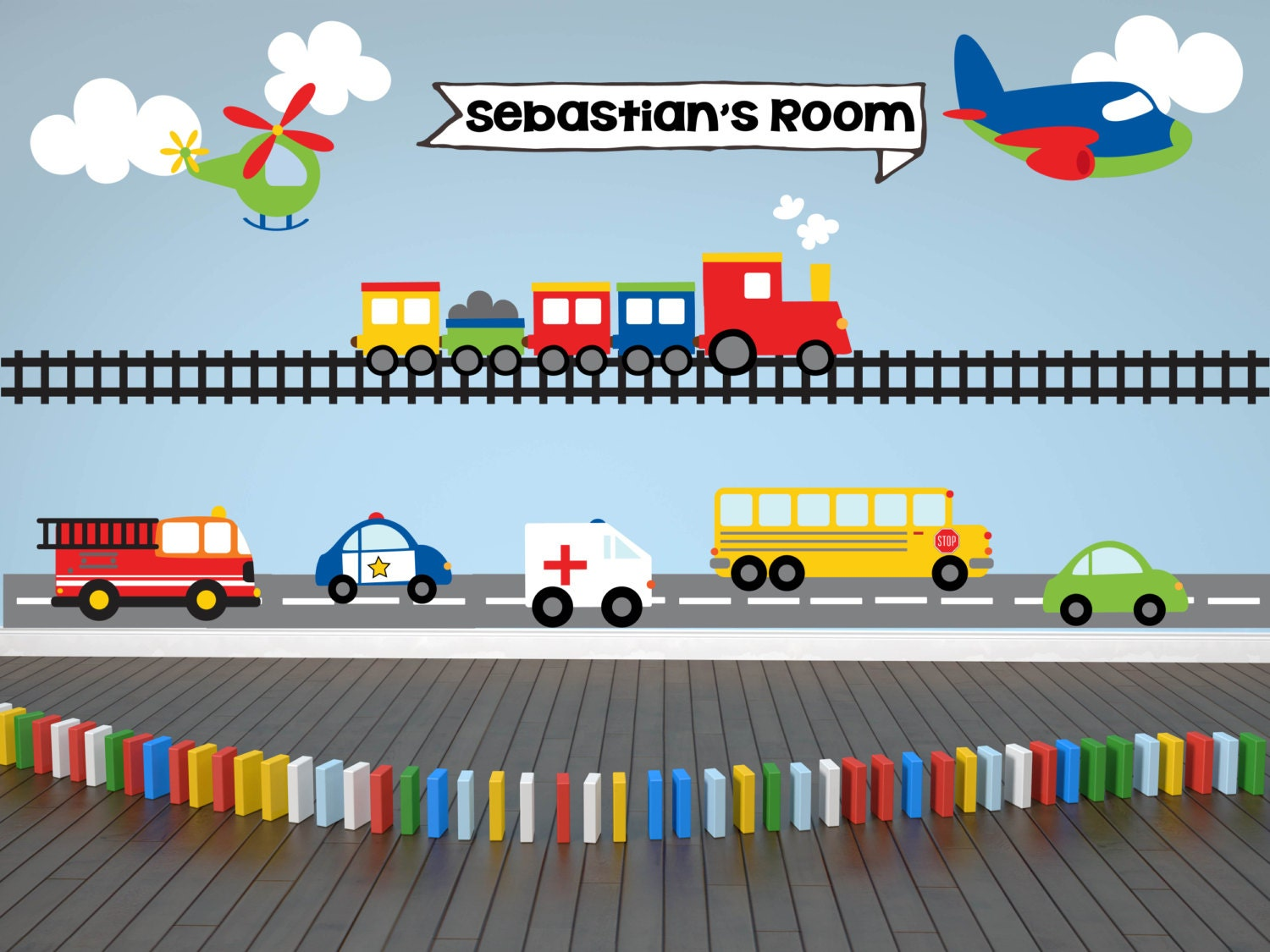 Train Wall Decal Transportation Wall Decal Personalized