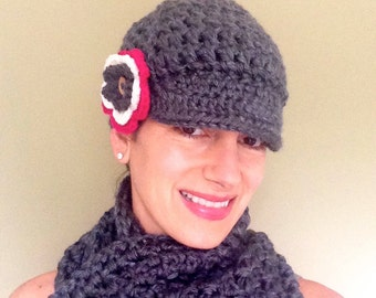 Fun and Functional Brimmed Newsboy Hat
