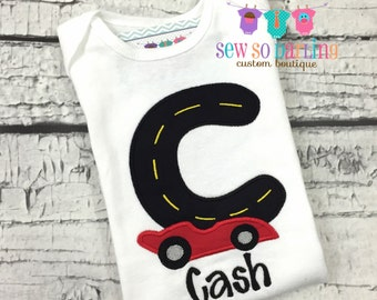 Baby Boy Race car Outfit - Boy's Racecar Shirt - Baby Boy Personalized Gift