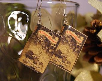 Wizard of Earthsea Book Earrings