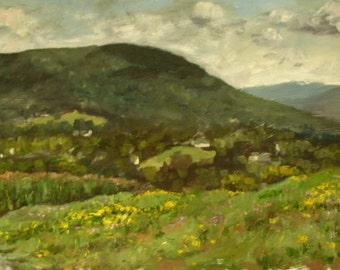Original Landscape Oil Painting-Mount Nittany
