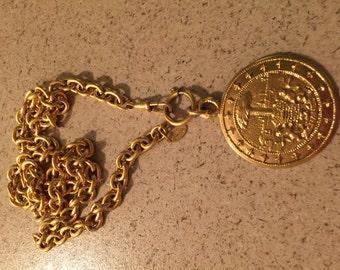 Vintage 1990s Rare Chanel Medallion Necklace