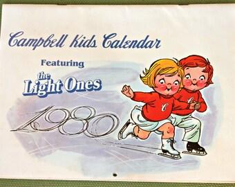 Campbell Kids Calendar 1980 Olympic Sport Athlete Fitness Valentine Nostalgia