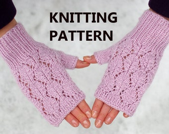 Lace Wristlets Knitting Pattern : Lace fingerless gloves knitting pattern arm warmers knitting