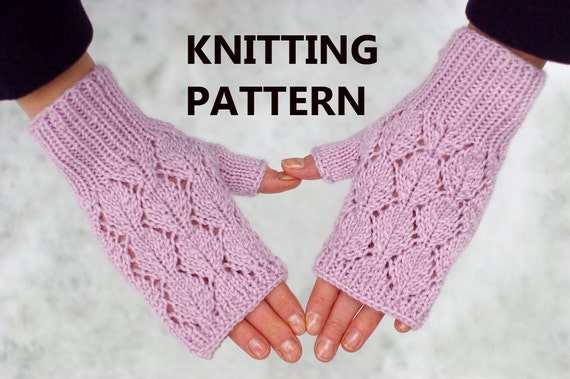 Lace Wristlets Knitting Pattern : Lace fingerless mittens knitting pattern, women mitts ...