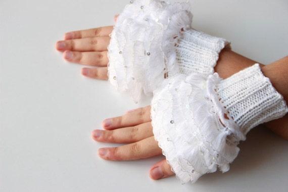 مدل دستکش بافتنی بدون انگشت دخترانه و زنانه 2016