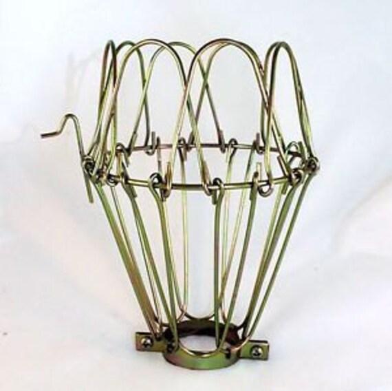1x metal lamp cage edison bulb industrial lighting brass. Black Bedroom Furniture Sets. Home Design Ideas