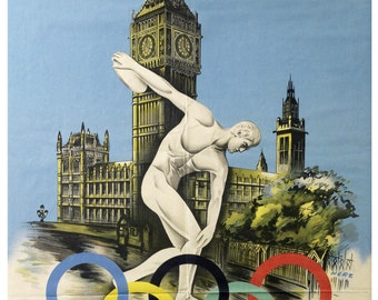 Reprint of a Vintage 1948 London Olympics Poster