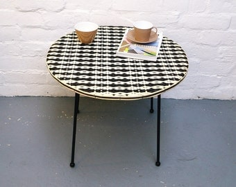Vintage woven topped table
