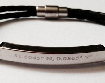 custom leather bracelet engrave on etsy a global handmade