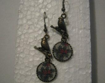 Chirstmas Earrings, Brass Dangle Earrings, FREE SHIPPING Domestic Shipping