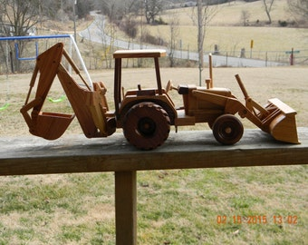 Large Wood Backhoe