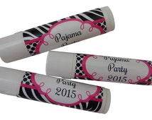 Personalized Lip Balms for Any Occasion, Handmade, Choose Label Design and Flavor, Custom Chapstick Lip Moisturizer, Party Favor