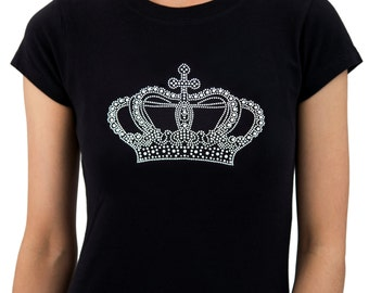 CROWN Rhinestone T-Shirts for Women