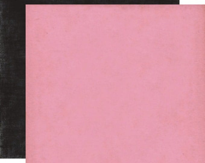 2 Sheets of Echo Park Paper YOURS TRULY 12x12 Valentine's Day Scrapbook Paper - Dark Pink/Black