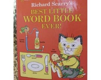 A Little Golden Book, Richard Scarry's Best Little Word Book Ever!, 1992, Vintage Picture Book, Vintage Children's Book