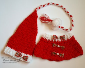 crochet set of Santa Claus