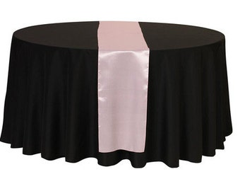 Pink Satin Table Runner | Wedding Table Runners