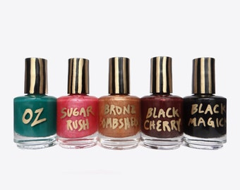 Nail Polish Set, Handmade Nail Polish, 15ml, 5 Different Colors, hand mixed nail polish, nail polish, nail lacquer, makeup set, gift set