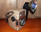 Kodak Brownie Bulls Eye Camera and Flash 1950s Era Collectible