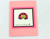 Hugs & Kisses Valentine's Day Ladybug Card with envelope