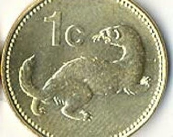 Coin - Malta common Weasel coin - collectable coin - weasel - ferret - KM - shiny like uncirculated - coins for jewelry