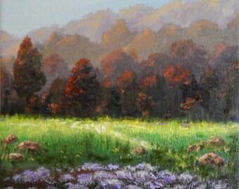 Canvas Oil Painting Impressionistic Scenic Landscape