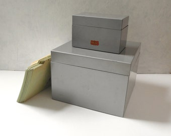 Large Shaw Walker File Box ~ A To Z Index Card Guides Vintage Office Home Studio Organizer Metal Box /0397