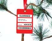 Clearance Tag  Christmas Tree Ornament