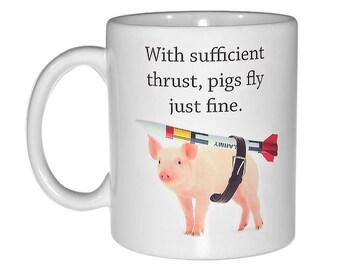 When pigs fly  coffee or tea mug