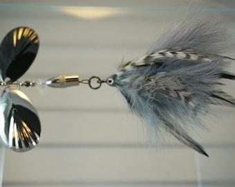 Black & Silver FlyStyle Muskie Bucktail