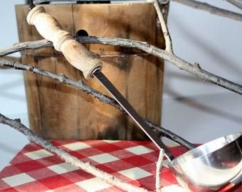 Vintage Stainless Steel Canning Cooking Ladle-Soup Ladle-Housewares-Food Prep-Kitchen Utensils-Serving Ladles-Sauce Ladle-Antique-Japan Made