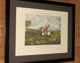 Flowers of our Hunt, English Rose, Henry Alken, frame 20''x16'', hunting print