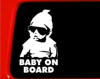 "Hangover Baby on board Carlos Funny 6"" Vinyl Decal Window Sticker for Car, Truck, Motorcycle, Laptop, Ipad, Window, Wall, ETC"