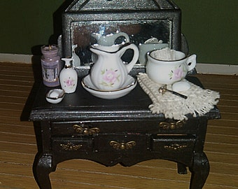 Vanity ~ 1:12 Scale Dollhouse Miniature