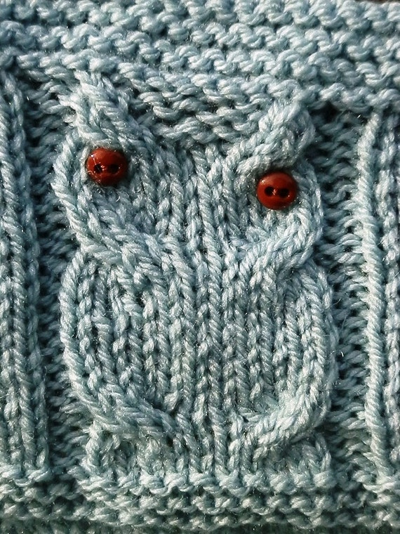 Knitting Pattern Owl Baby Blanket : Knitting Pattern Owl Blanket Bird Blanket Digital Pattern