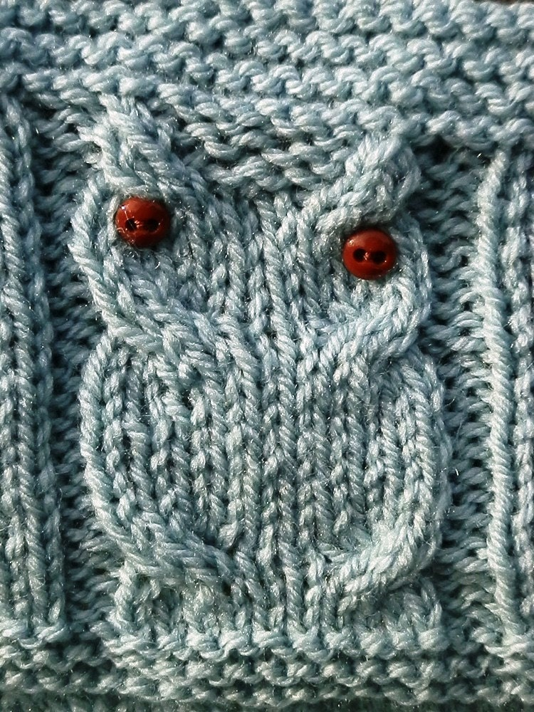 Knitting Pattern Owl Blanket Bird Blanket Digital Pattern