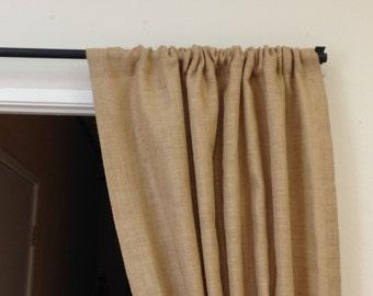 40 96 long Yellow Burlap Curtains Custom