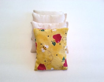 Cold Compress Rice Bag / Boo Boo Bag made from Rice with Removable Washable Cover / Natural First Aid